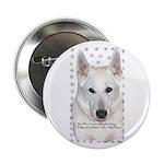 White German Shepherd Dog - A Button