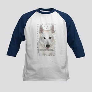 White German Shepherd Dog - A Kids Baseball Jersey