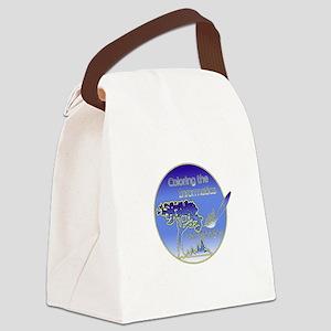 Color the Landscape Canvas Lunch Bag