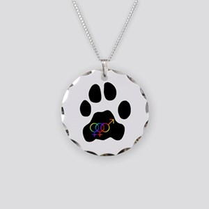 Bisexual or Poly Pride (FFM) Necklace Circle Charm