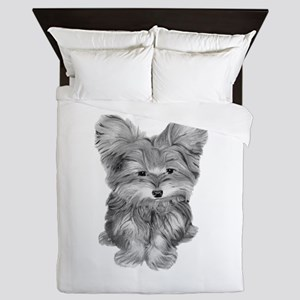 Yorkshire Terrier Dog Art Queen Duvet