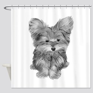 Yorkshire Terrier Dog Art Shower Curtain