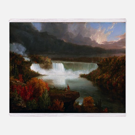 Thomas Cole Niagara Falls Throw Blanket