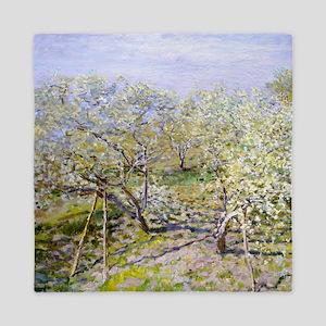 Claude Monet Apple Trees Queen Duvet