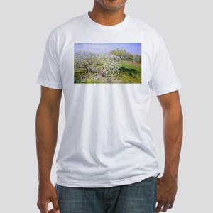 Claude Monet Apple Trees Fitted T-Shirt