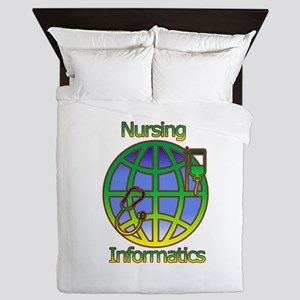 Global Nursing Informatics Queen Duvet