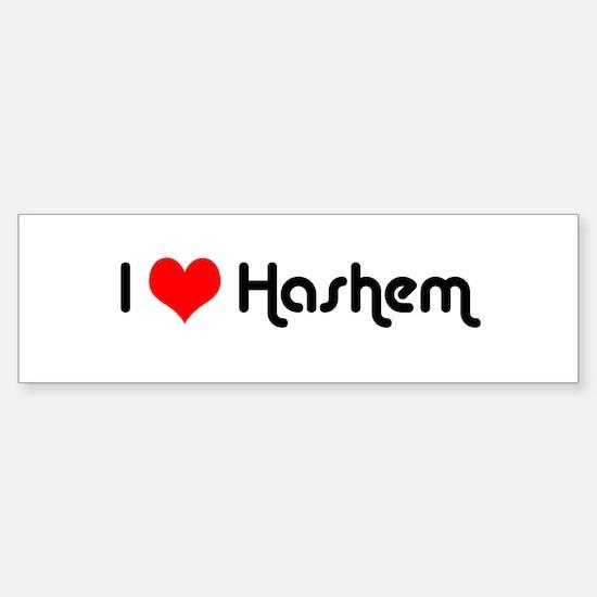I Love Hashem Bumper Bumper Bumper Sticker