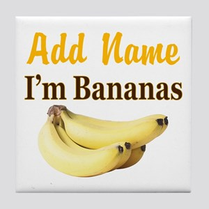 I LOVE BANANAS Tile Coaster