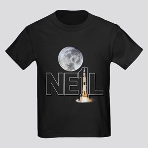 A TRIBUTE DESIGN TO NEIL ARMSTRONG Kids Dark T-Shi