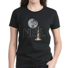 A TRIBUTE DESIGN TO NEIL ARMSTRONG Women's Dark T-