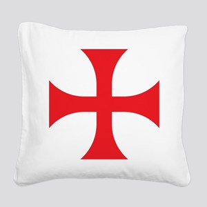 Knights Templar Square Canvas Pillow