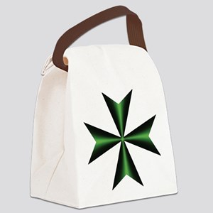 Green Maltese Cross Canvas Lunch Bag