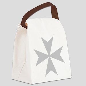 Silver Maltese Cross Canvas Lunch Bag