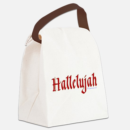 hallelujah_goth_red.png Canvas Lunch Bag