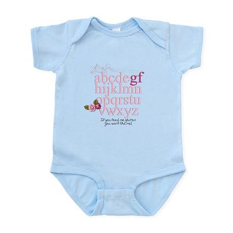 Gluten Free Alphabet Pink Infant Bodysuit