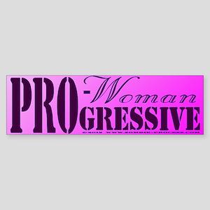 Pro Woman, Progressive Sticker (Bumper)