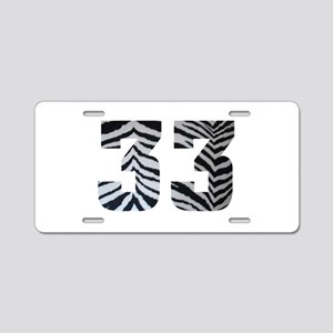 33 ZEBRA PRINT Aluminum License Plate