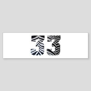 33 ZEBRA PRINT Sticker (Bumper)