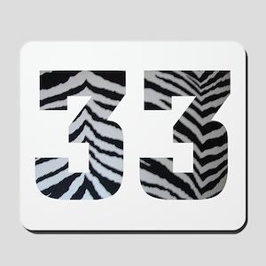33 ZEBRA PRINT Mousepad