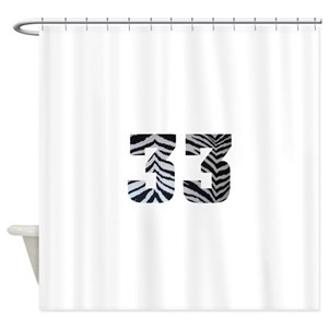 Zebra Print Shower Curtains