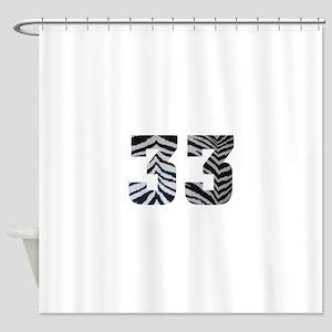 33 ZEBRA PRINT Shower Curtain
