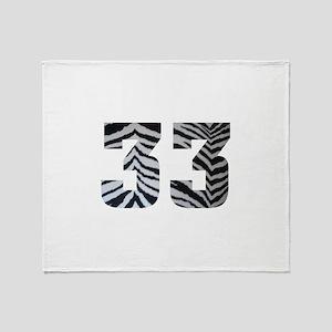 33 ZEBRA PRINT Throw Blanket