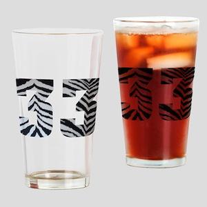 33 ZEBRA PRINT Drinking Glass