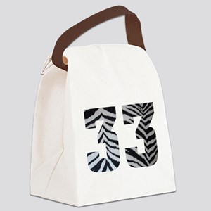33 ZEBRA PRINT Canvas Lunch Bag