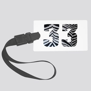 33 ZEBRA PRINT Large Luggage Tag