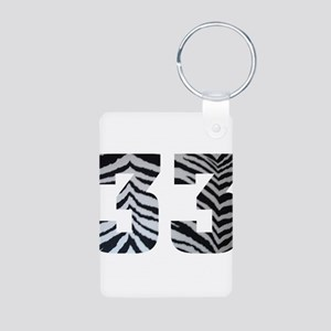 33 ZEBRA PRINT Aluminum Photo Keychain