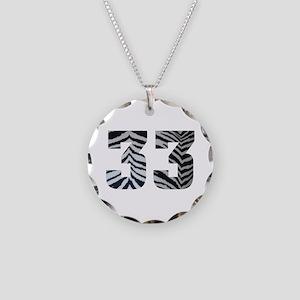 33 ZEBRA PRINT Necklace Circle Charm