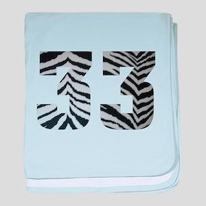 33 ZEBRA PRINT baby blanket