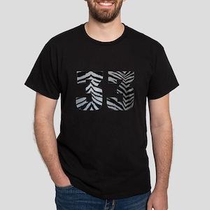 33 ZEBRA PRINT Dark T-Shirt
