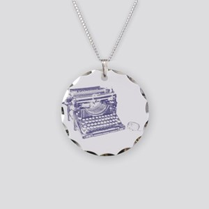 Vintage keyboard and mouse Necklace Circle Charm