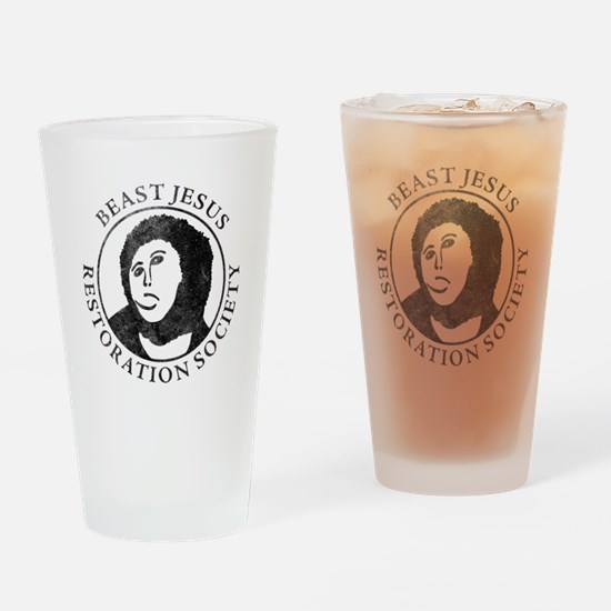 Beast Jesus Restoration Society Drinking Glass
