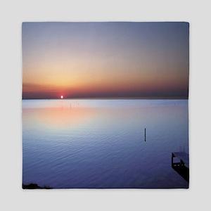 Low Beach Sunset (OBX) Queen Duvet