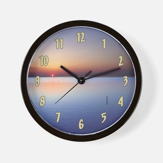 Low Beach Sunset (OBX) Wall Clock