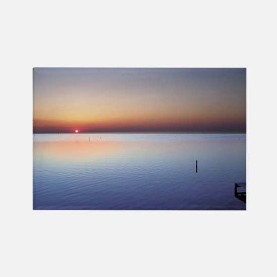 Low Beach Sunset (OBX) Rectangle Magnet