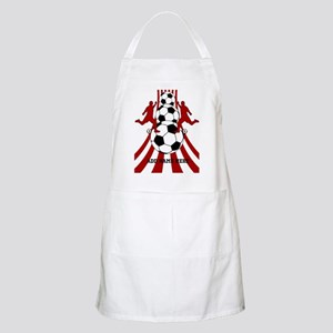 Personalized Red White Soccer Apron