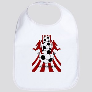 Personalized Red White Soccer Bib