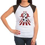Personalized soccer Women's Cap Sleeve T-Shirt