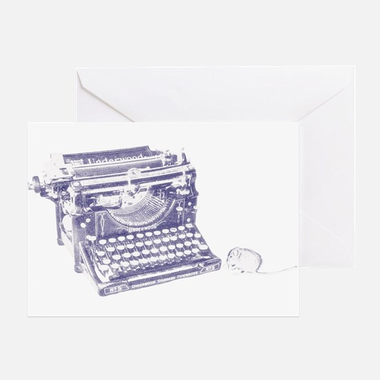 Vintage keyboard and mouse Greeting Card