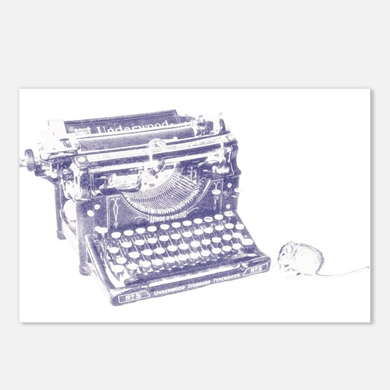 Vintage keyboard and mouse Postcards (Package of 8
