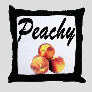 I LOVE PEACHES Throw Pillow