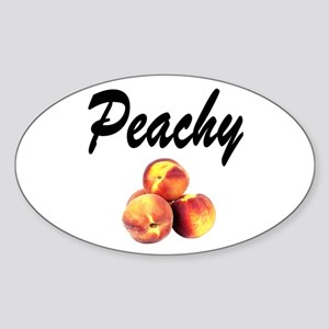 I LOVE PEACHES Sticker (Oval)