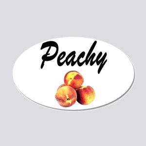 I LOVE PEACHES 20x12 Oval Wall Decal