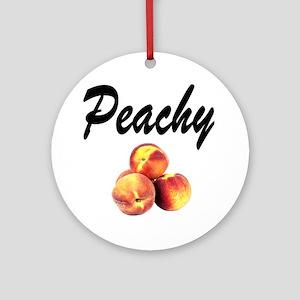 I LOVE PEACHES Ornament (Round)