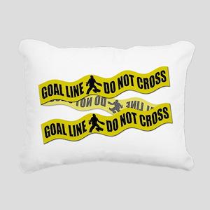 Field Hockey Crime Tape Rectangular Canvas Pillow