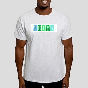 Priya's Name Ash Grey T-Shirt
