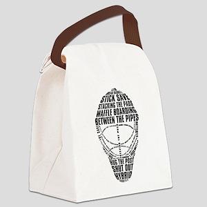 Hockey Goalie Mask Canvas Lunch Bag